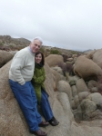 Richard with wife Phyllis Joshua Tree National Park 2010